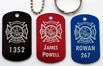 Common Firefighter Tags