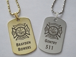 Premium Firefighter Tags