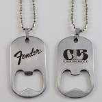 Fender Custom Built Bottle Opener Tag