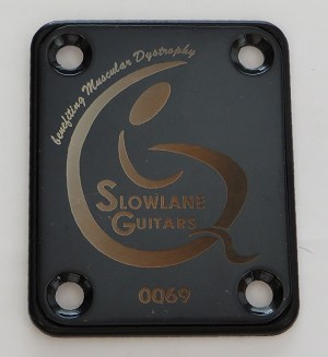 Custom Black Steel Neck Plate
