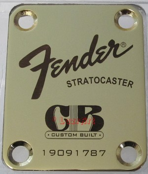 "Fender with ""Custom Built"" logo"