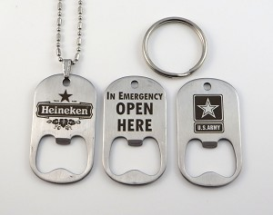 Stainless Steel Bottle Opener Tag